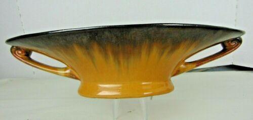 "FULPER 12"" CONSOLE BOWL BROWN/GOLD GLAZES c1917-27"