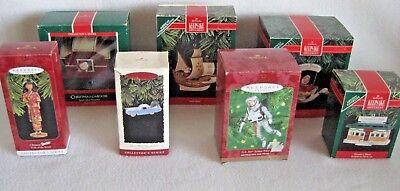 Hallmark Keepsake Christmas Ornament Lot - G.I. Joe, Barbie, 56 Thunderbird MORE