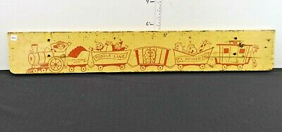 Antique Wood Advertising Sign Little People By J.L Weiner Co Vintage Advertising
