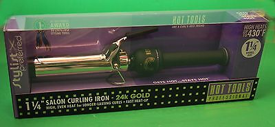HOT TOOLS 1 1/4 CURLING IRON GOLD