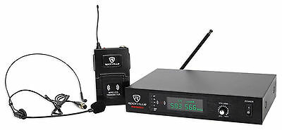 Rockville RWM60U Professional UHF Headset & Guitar Wireless Microphone System