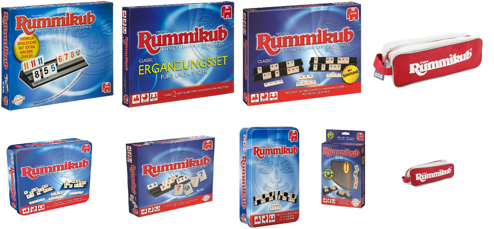 Jumbo Spiele 03819 Original Rummikub XXL mit großen Spielsteinen Neu