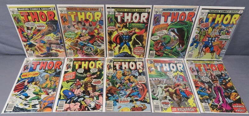 THE MIGHTY THOR #270 271 272 273 274 275 276 277 278 279 (10 Issue Run) Marvel