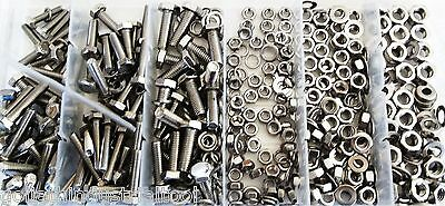 475pc GOLIATH INDUSTRIAL SSNB475 STAINLESS STEEL METRIC NUT BOLT ASSORTMENT