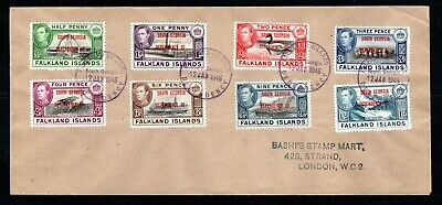 Falkland Island Dependencies - 1946 KGVI South Georgia Overprints Set on Cover