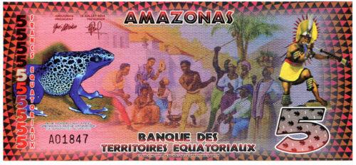 Equatorial Guinea 5 E Francs  Banknote. Uncirculated. Lot #2378