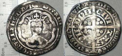 England Edward III 1351-1361 Groat Hammered Silver Coin Sp#1567