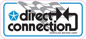 CHRYSLER-MOPAR-DIRECT-CONNECTION-CHECKERED-RACING-FLAG-DECAL-STICKER