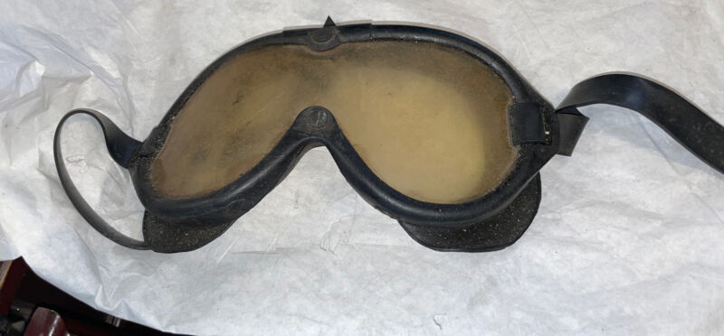 AO American Optical Rubber Military Goggles Vintage!