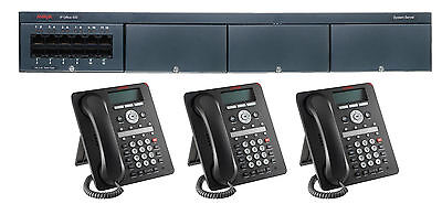 Avaya Ip Office 500 V2 Phone System With 3 1408 Phones Voice Mail New