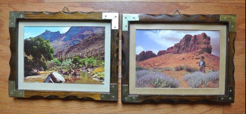 """Vintage Wood Prints with American Views -""""West"""""""