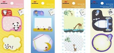 4a Cute Sticky Notes Kawaii Sticker Bookmark Memo Pads School Supply Stationery