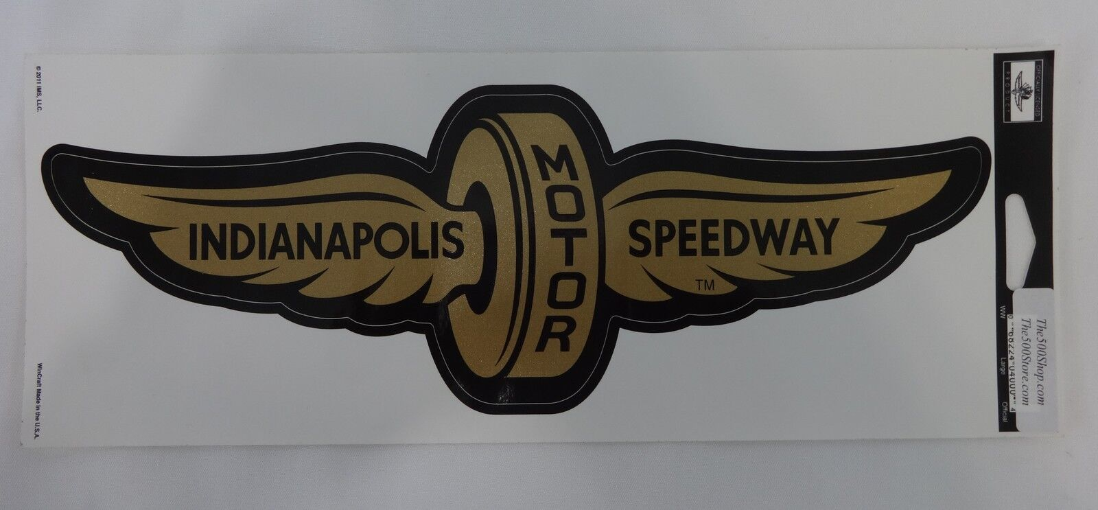 Indianapolis motor speedway gold wings wheel decal indy for Indianapolis motor speedway clothing