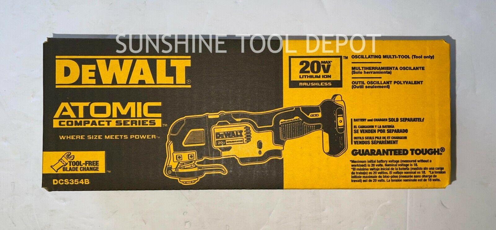 DeWalt Atomic DCS354B 20V Max Brushless Cordless Oscillating Multi Tool Only