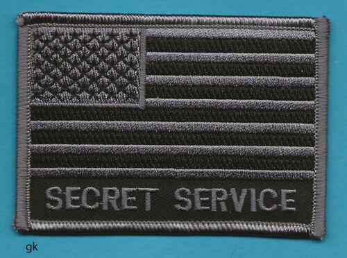 UNITED STATES USSS SECRET SERVICE FLAG SHOULDER PATCH  Subdued black