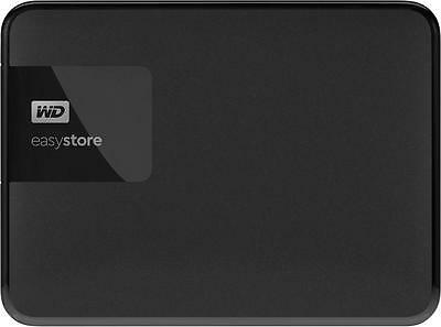 WD - easystore® 1TB External USB 3.0 Portable Hard Drive - Black