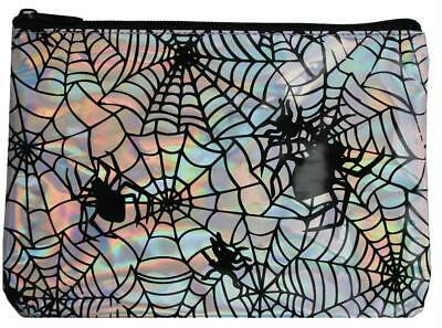 IRIDESCENT SPIDER WEB MAKEUP BAG COSTUME ACCESSORY GLH180778](Spider Halloween Costume Makeup)