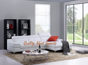 NEW ARRIVAL ! Modern Real Leather Sectional Sofa *TAXES INCLUDED