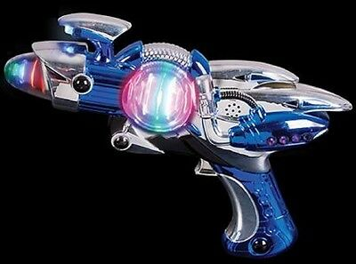 Light Up Space Gun (Kids Space Gun Blaster Flashing Spinner Light Up Toy Noise Maker,)