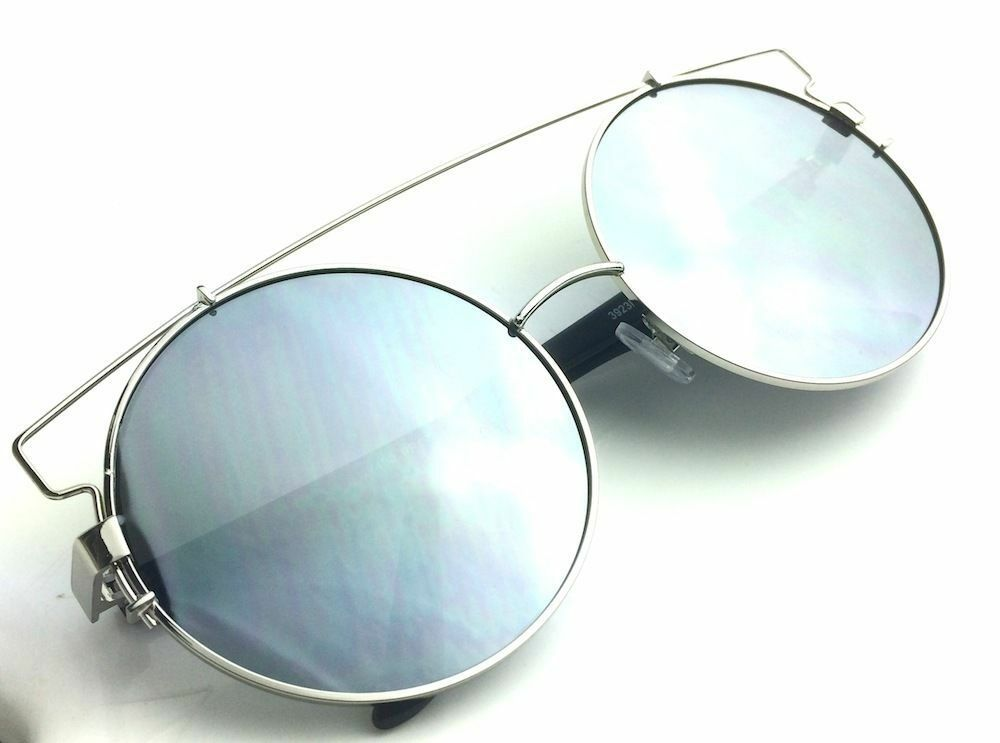 OVERSIZED-Technologic-Women-Sunglasses-Metal-Frames-Big-Round-Glasses-XXL