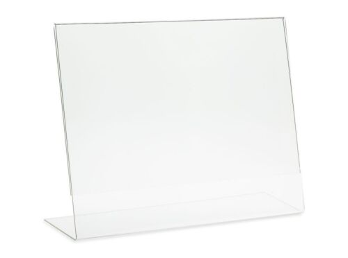 "6 PC 11""x8.5"" Horizontal Photo Frame Free Standing Sign Holder Clear Acrylic AZM"