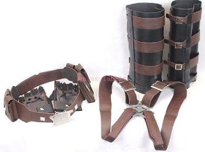 Captain America ACCESSORIES Winter Soldier stealth gloves belt harness Leg Guard - Captain America Accessories