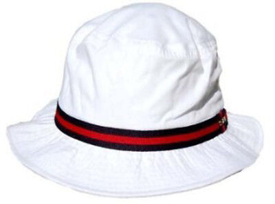 Classico Rain Hat - Bucket Hat by Dorfman Pacific (White Small) - White Bucket Hats