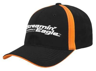 Harley-Davidson® Men's Screamin' Eagle Pursuit Flex Cap, Black HARLMH0332 Black Screamin Eagle