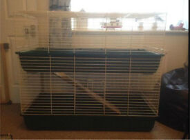 • ROSEWOOD LARGE INDOOR 2 STOREY CAGE •