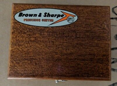 Brown And Sharpe 599-540-9993 Wood Case For 3 Square