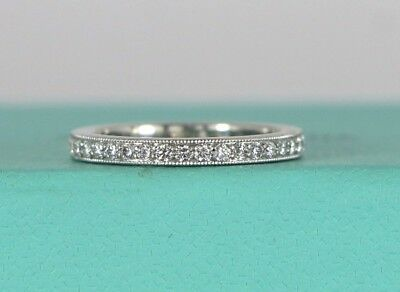 $3950 Tiffany & Co Legacy Platinum Diamond Full Eternity 2.3mm Wedding Band - Tiffany Legacy Wedding Band