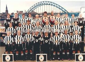 NEWCASTLE UNITED FC 1996-97 KEVIN KEEGAN ASPRILLA DAVID GINOLA ALAN SHEARER