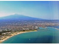 Return flights for two to Sicily