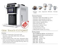 beans to cup coffee machine fully automatic q007 in only black colour available