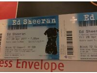 REDUCED no offers or time wasters 2 x Ed Sheeran tickets seated 28-4 Birmingham.