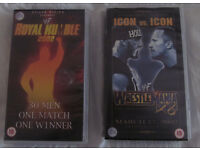 2 Classic VHS Tapes- WWF - Royal Rumble 2002 & WrestleMania X8 (2002)