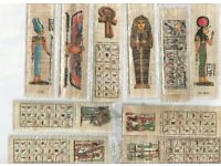 AVAILABLE. Geniune Egyptian Papyrus 10 Bookmarks made of natural handmade & painted Egyptian Papyrus