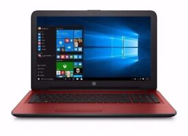 "HP 15-ay020na 15.6"" 4GB 1TB WebCam WiFi HDMI Bluetooth Windows 10 Laptop Red"