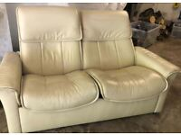 Stressless leather settee