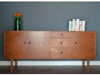 Stylish Vintage Danish style teak sideboard. Delivery. Modern/ Midcentury.
