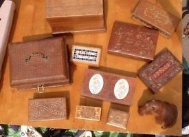 Wooden vanity boxes - 10 various styles (Bargain)