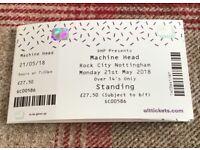Machine Head Ticket for Rock City Nottingham 21/05/18