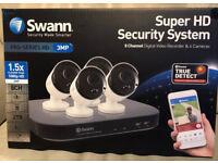 Swann 8 Channel Security System: 4x 3MP Super HD DVR-4780 2TB HDD *NEW SEALED*