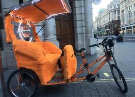 Bicycle Kids Boy Girl Mate Fun Rickshaw Tuk Tuk 3 Wheels Electric Bike Engine Pedicab Tok Tok
