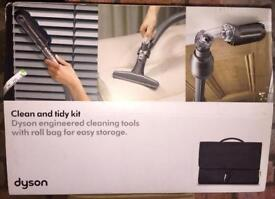 Dyson vacuum clean & Tidy kit with attachment tools & roll storage bag BRAND NEW