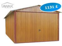 NEW Garage Metal Shed - 9.84ft (300cm) x 16,4ft (500cm) - Oakwood tree color