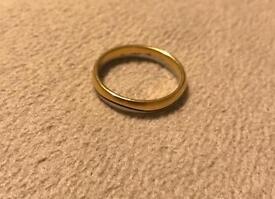Men's Platinum and Yellow Gold Wedding Ring