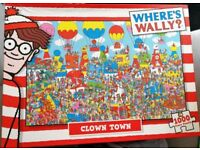 WHERE'S WALLY? Clown Town - 1000 Piece Jigsaw - Open/Played for about 10 minutes!