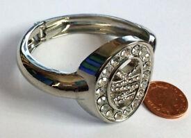 MK gemstone hinged bracelet