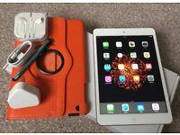 PRISTINE-iPad mini 2nd Gen 16gb Wi-Fi,Colour-Silver.All accessories &New leather case.